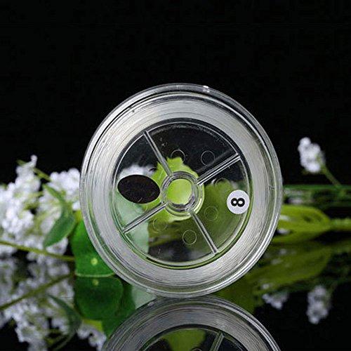 vientiane 50 m Spule 0,8mm Elastisch Schmuckfaden,Gummifaden Transparent Faden für DIY Handwerk Schmuck Armband