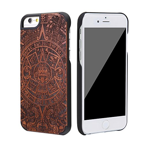 """eimo Apple iPhone 6 Plus 5.5"""" Original Cover Case bois avec bords noirs et d'absorption des chocs Couche pour iPhone 6 Plus 5.5 pouces-38 39"""