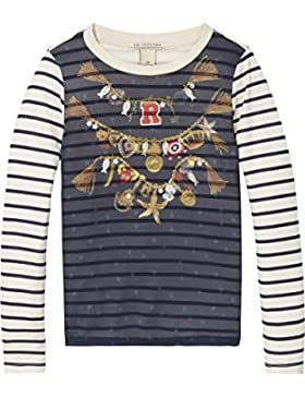 Scotch & Soda R'Belle Woven Photo bedruckt T-Shirt, Camiseta Para Niñas