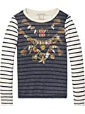 Scotch & Soda R'Belle Woven Photo Bedruckt T-Shirt, Fille, Multicolore (Combo X 603), 140 (Taille Fabricant: 10)