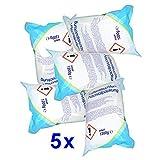5 x Raumentfeuchter-Nachfüllpackungen à 1,2 kg - verhindert Schimmel, Moder, üble Gerüche, Stockflecken - Raum-Entfeuchter