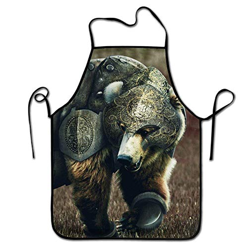 Warrior Tech Short (KLYDH Adjustable Kitchen Chef Apron-Armor Warrior Bear£¬Commercial Men & Women Bib Apron)