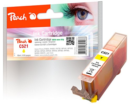 Preisvergleich Produktbild Peach XL-Tintenpatrone gelb kompatibel zu Canon CLI-521y, 2936B001