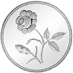 Ananth Jewels BIS HALLMARKED 999 Purity Silver Coin Plain Rose 1 gram