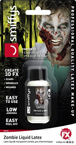 Flüssig Latex Make Up Zombie (Smiffys, Unisex Zombie Latex Make-Up, 29ml, Weiß,)