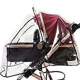 Meliya Universal Baby Kinderwagen Regenschutz PVC Wasserdicht Kinderwagen Regen Cover Regen Wetter Displayschutzfolie für Buggy Überwurf Kinderwagen