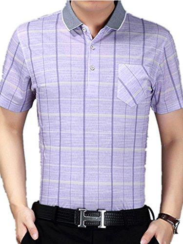 BOMOVO Herren Kurzarm-T-Shirt Sommer Violett