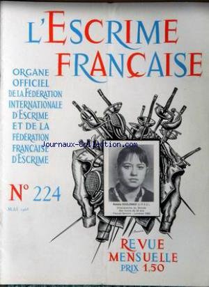 ESCRIME FRANCAISE (L') [No 224] du 01/05/1968 - NATALIA KOZLENKO (U.R.S.S.)