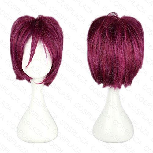 cosplaza-matsuoka-rin-free-free-short-plum-red-anime-cosplay-wig-synthetic-hair