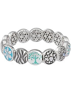 Armband, Elastisch, Design: Baum des Lebens, Armband mit austauschbaren Gliedern