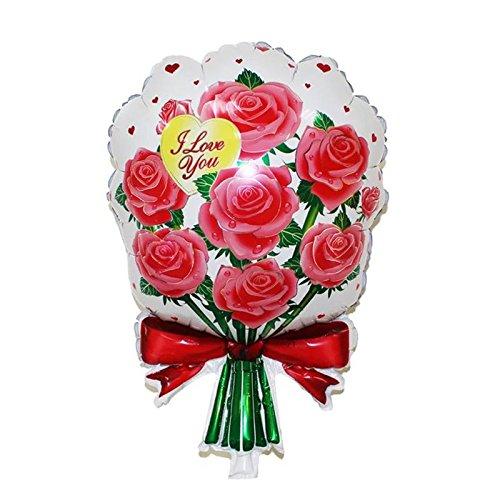 Luftballon Bouquet Rose Blumen Liebe Party Geschenk ()
