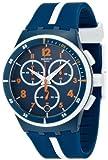 Swatch SUSN403-Montre de Poignet, Bracelet en Caoutchouc Bleu