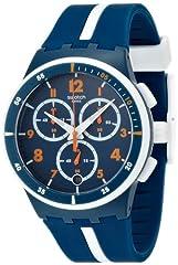 Idea Regalo - Swatch SUSN403 - Orologio da polso, cinturino in caucciù colore blu