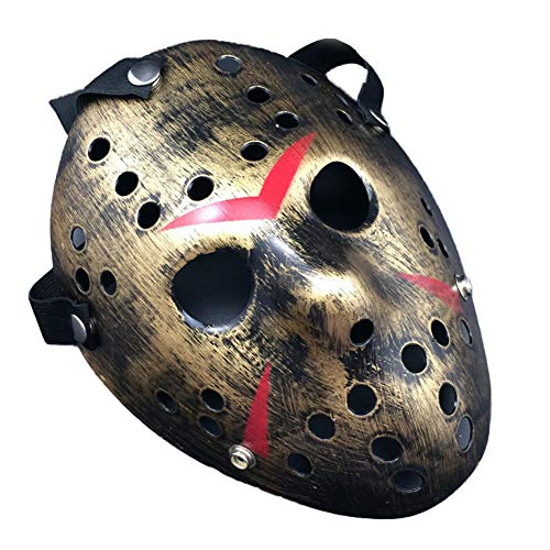 liaoting938 Jason Voorhees Halloweenmaske für Erwachsene, Halloween, Cosplay, gruselig, Gruselig, Cosplay, Halloween, Kostüm Horror-Requisite ()