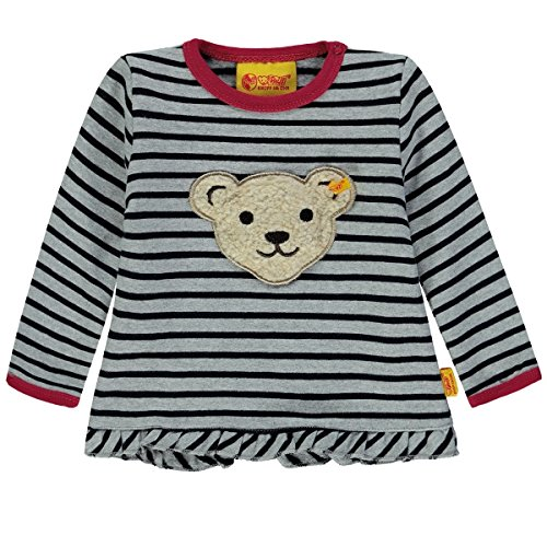 Steiff Baby-Mädchen Sweatshirt Sweathirt 1/1 Arm, Mehrfarbig (Y/d Stripe|Multicolored 0001), 86