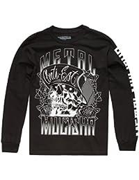 Camiseta de manda larga Metal Mulisha Woodcut Negro