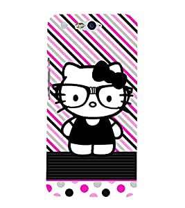 Kity Cute Funny 3D Hard Polycarbonate Designer Back Case Cover for In Focus M812 :: InFocus M 812