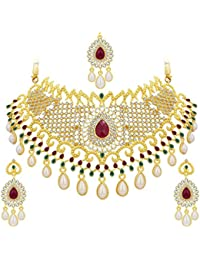 Sukkhi Jewellery Sets for Women (Golden) (3135NADS1600)