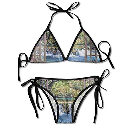 Women's Beachwear Bikini,in The Forest Seen Sexy Bikini 2 Pieces