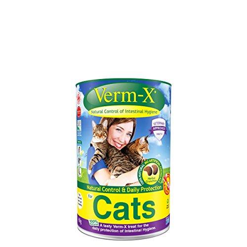 Verm-X Herbal Knuspersnacks für Katzen (60 g) (Mehrfarbig) -