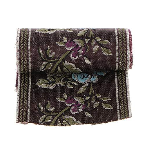 P Prettyia Cinta Tejida Cinta Decorativa de Diseño Medieval Adorno de Encaje para Artesanía de Costura,6 Yardas - 80x5000mm