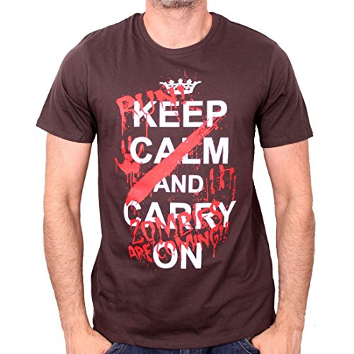 Tshirt Herren Legend Icon – Keep Calm Zombie Are Coming Grau - Anthrazit