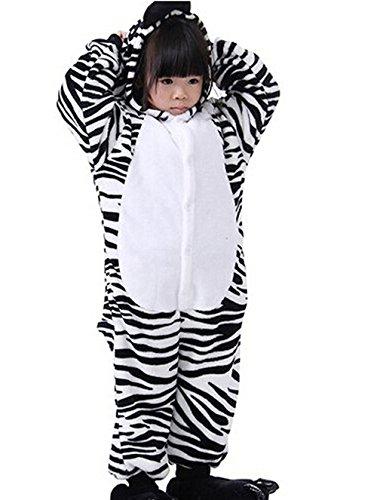 Kenmont Jumpsuit Tier Cartoon Einhorn Pyjama Overall Kostüm Sleepsuit Halloween Cosplay Animal Sleepwear für Kinder Baby (Größe95: Höhe 95-110, Zebra)