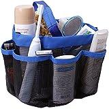 dormitorio para ducha Bolsa de rejilla para colgar secado rápido bolsa de aseo con 8 compartimentos de almacenamiento