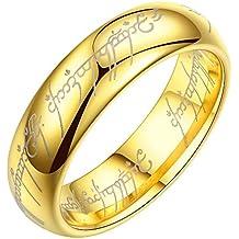 Aivtalk de volframio fresas de carburo de 18 K de la boda de la clavijas bañadas en oro de pareja cogida de la anillas para barra de acero de tungsteno el ...