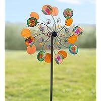 Colores vibrantes mariposas de metal Wind Spinner