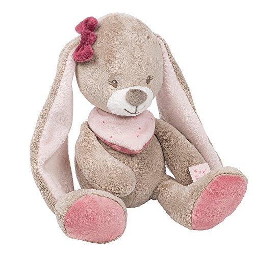 Nattou Kuscheltier für Babys, Mädchen, 28 cm, rosa - Nina das Kaninchen
