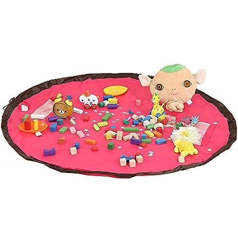 Nylon Giocattoli marsupio per i bambini Borse bambino giocattoli Deposito grandi-dimensioni gioco mat Portable Giocattoli Organizer