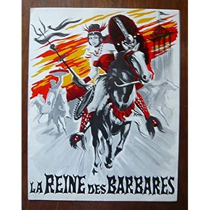 Dossier de presse de La reine des Barbares (1960) – 31x72cm - Film de Sergio Grieco avec Jacques Sernas, Mario Petri– Photos N&B – résumé scénario – Bon état.