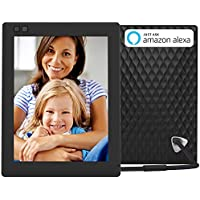 NIXPLAY Seed Digital Photo Frame WiFi 8 inch W08D, Black. Share Photos via Mobile App or E-Mail. Display HD Pictures and Videos. Electronic Smart Picture Frame with Motion Sensor