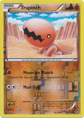 Pokemon Single Card - TRAPINCH Reverse Holo 53/111 FURIOUS FISTS