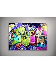 """Graffiti 082, Poster Affiche Papier Murale Pop-Art Décoration Intérieure Reproduction Peinture avec Dessin Coloré. Grandeur: 11"""" x 17"""" - 28 x 43 cm"""