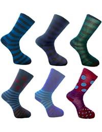 12 Prs Herrenmode gemusterte Socken Größe 41-46 11.07 EUR