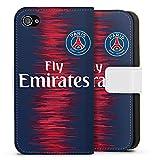 DeinDesign Apple iPhone 4 Étui Étui Folio Étui magnétique Paris Saint Germain Produit sous Licence Officielle Maillot PSG