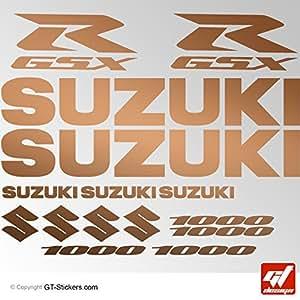Stickers SUZUKI GSX-R 1000 - CUIVRE - Planche XXL 17 gsx r, gsxr, Stickers , adhésifs, autocollants, gt-design