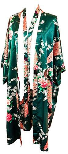 Bademantel Robe Wäsche -Nachtabnutzung Kleidbrautjunfer Junggesellinnenabschied (Dunkelgrün (Dark Green))