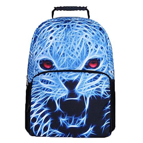 Ohmais 3D Tier Rücksack Rucksäcke Backpack Daypack Schulranzen Schulrucksack Wanderrucksack Schultasche Rucksack für Schülerin Loup