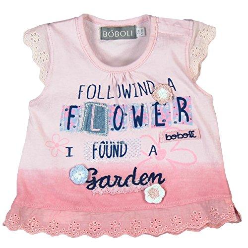 Boboli Baby-Mädchen Knit T-Shirt for Girl, Rosa (Pink 3503), 80 (Herstellergröße: 12M)