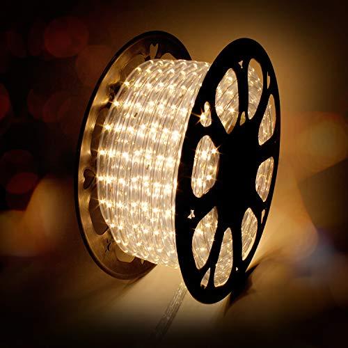 kefflum LED Lichterschlauch 30M, Lichtschlauch Lichterkette Licht Leiste 36LEDs/M Schlauch für Innen und Außen IP65 Warmweiß