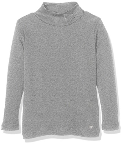 TOM TAILOR Kids longsleeve with turtle-neck, T-shirt Bambina, Grigio (medium grey melange), 122 (Taglia Produttore: 116/122)