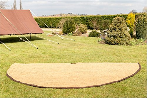 4M Coir Matting Half Moon Bell tent Camping Glamping 3.8m 1