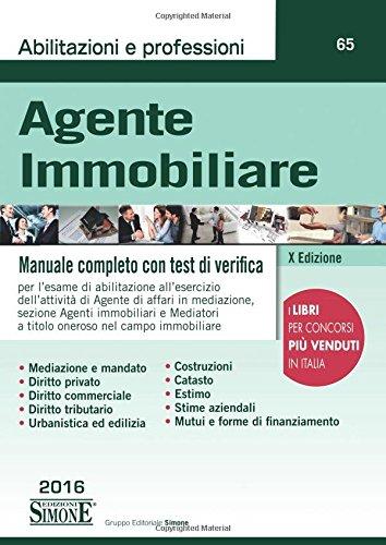 Agente immobiliare. Manuale completo con test di verifica Agente immobiliare. Manuale completo con test di verifica 51KM4lSfejL
