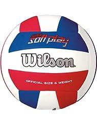 WILSON Super Soft Play Pelota, Rojo/Blanco/Azul, Talla Única