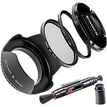 Lumos 5Juego de accesorios con 67mm Parasol filtro UV CPL filtro polarizador lente Tapa y Soporte para cada Canon lente de cámara con rosca de filtro de 67mm de Canon EF-S 18–13517–8570–20035mm EOS 7d 70d 80d 700d 750d 1300d