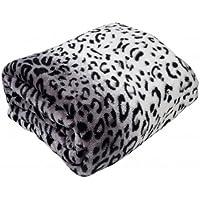 Country Club animali in micropile, stampa leopardo, colore: bianco