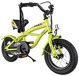 BIKESTAR® Premium Design Kinderfahrrad für coole Kids ab 3 Jahren ★ 12er Deluxe Cruiser Edition ★ Brilliant Grün